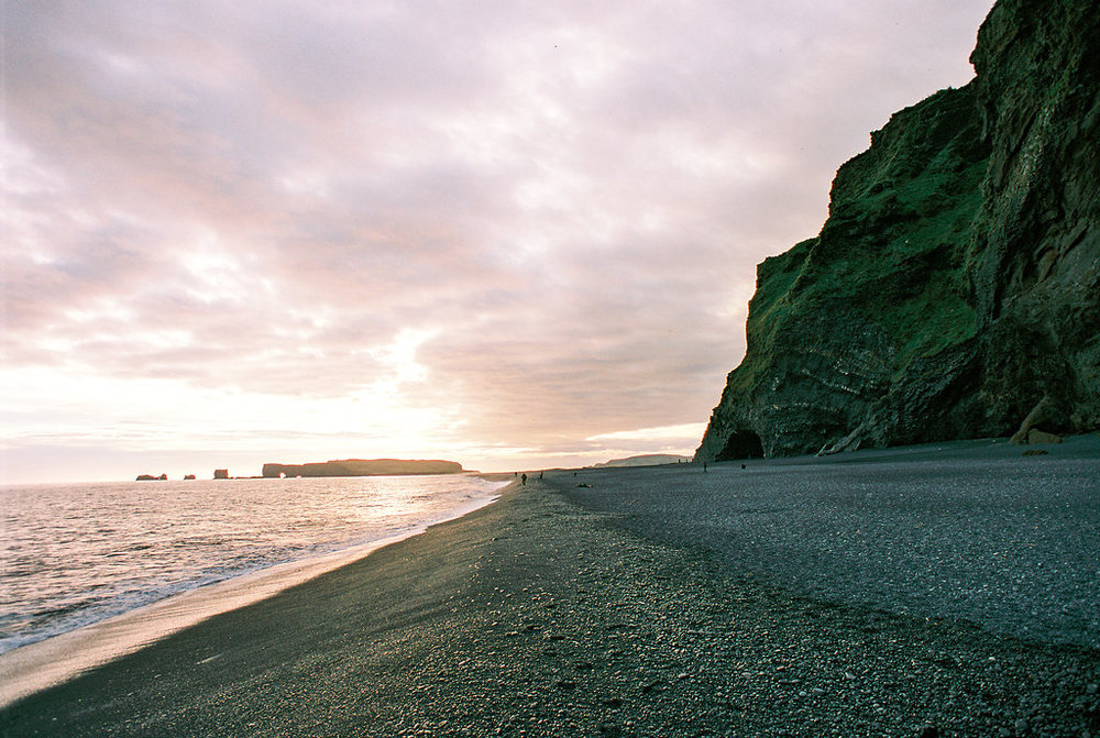 iceland on film sunset black sand beach destination photographer travel photos lissa ryan photography