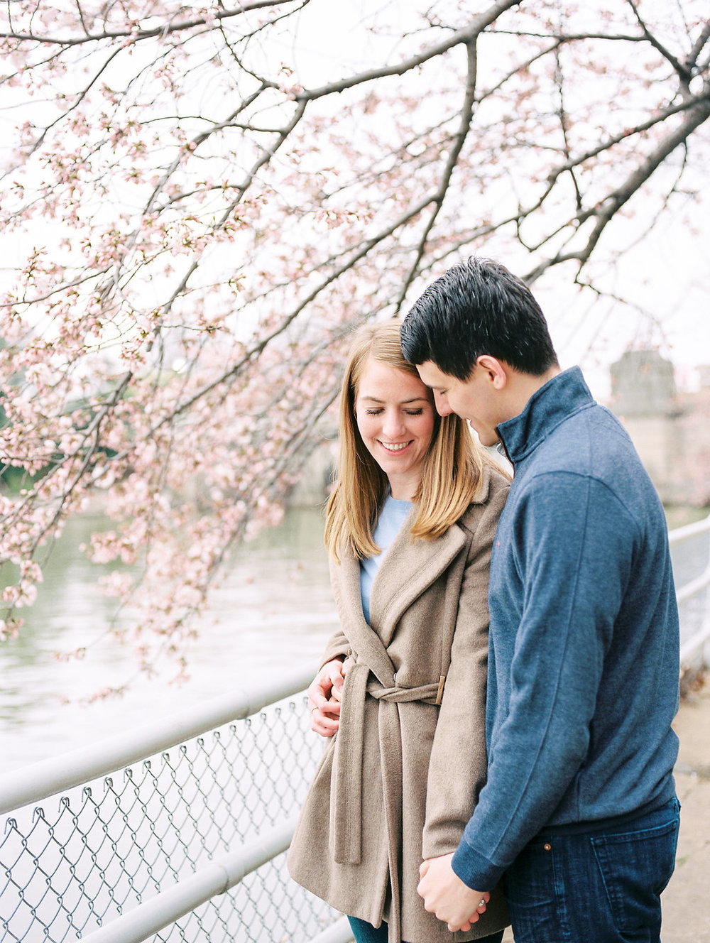 cherry blossom engagement photos washington dc fine art wedding photographer lissa ryan photography
