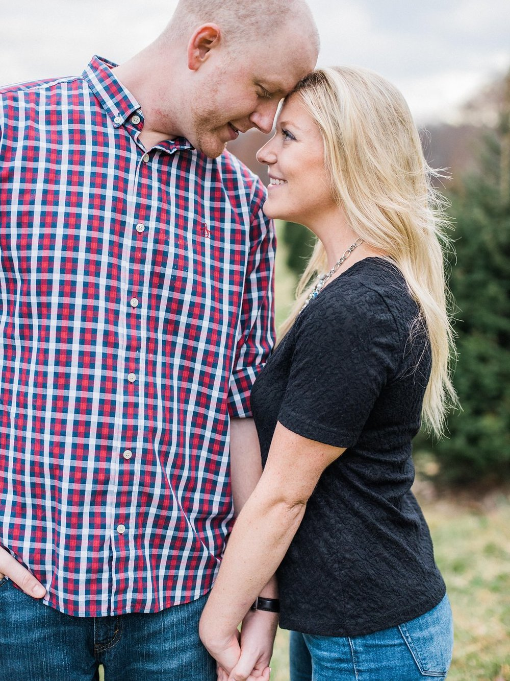 christmas tree farm engagement session washington dc fine art wedding photographer lissa ryan photography