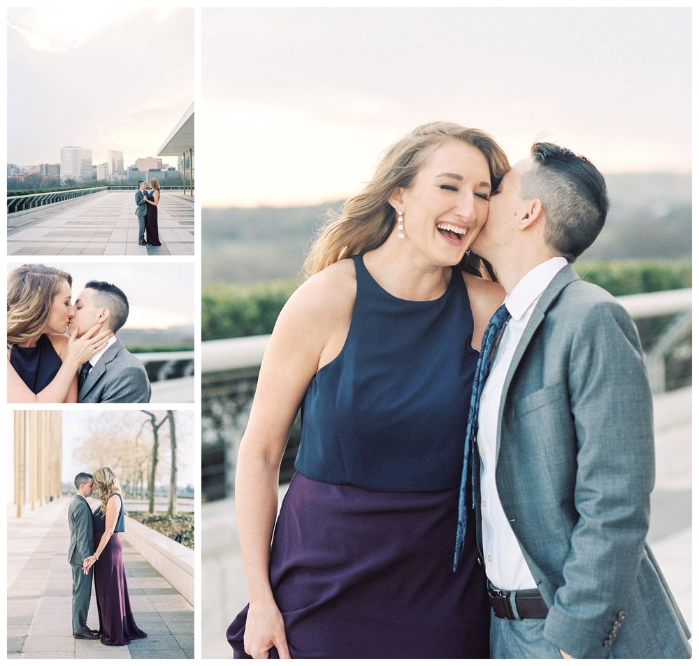 kennedy center same-sex engagement session on film fine art wedding photographer washington dc lissa ryan photography
