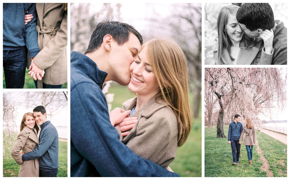 cherry blossom engagement photos in Washington DC by fine art wedding photographer lissa ryan photography