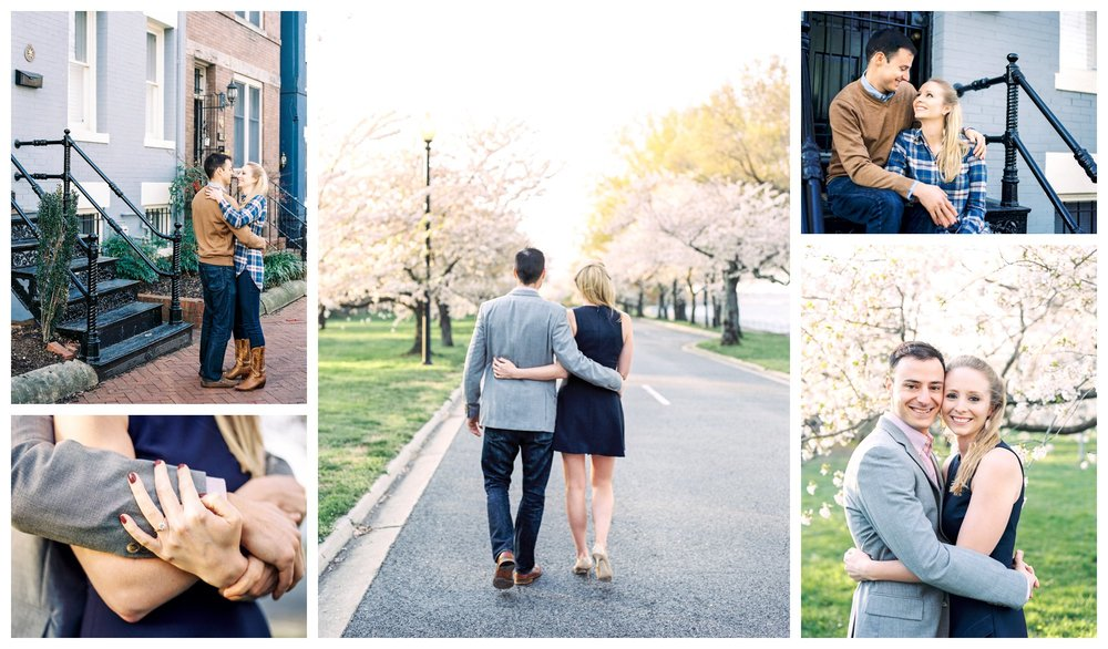 fine art film cherry blossom engagement session washington dc wedding photographer lissa ryan photography