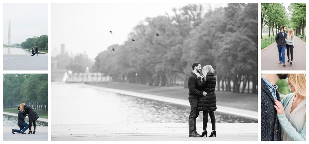 Washington DC proposal photos by fine art wedding photographer Lissa Ryan Photography