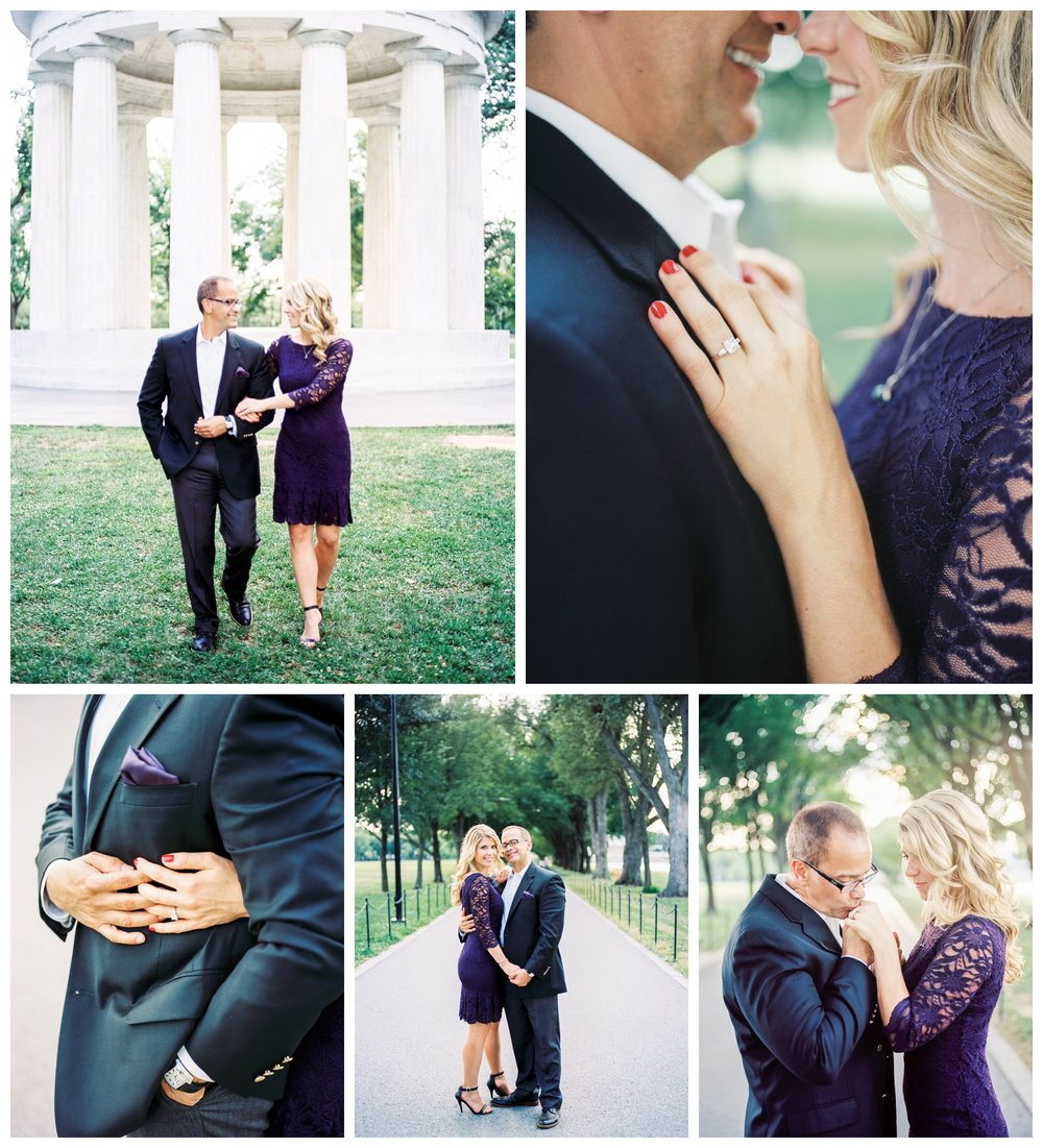 Classic DC memorial engagement session by fine art wedding photographer Lissa Ryan Photography