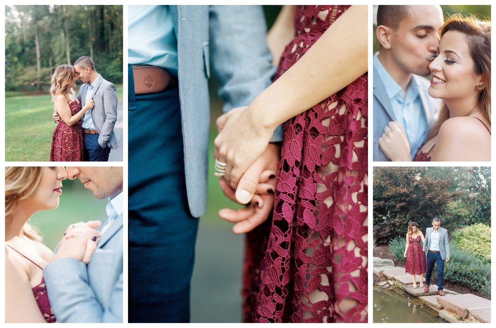 Elegant garden engagement session at Brookside Gardens by fine art wedding photographer Lissa Ryan Photography