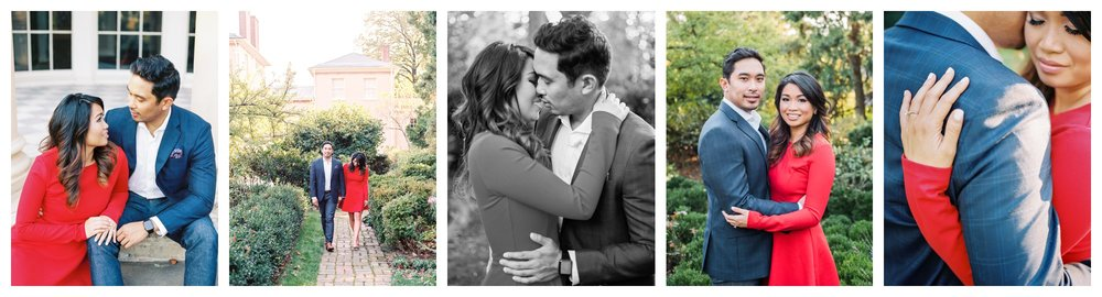 Historic garden engagement session in Georgetown Washington DC by fine art wedding photographer Lissa Ryan Photography
