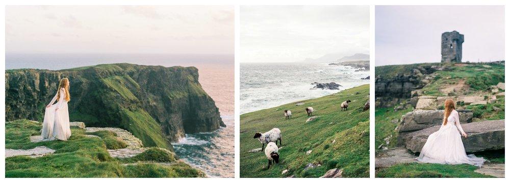 cliffs of moher ireland travel and destination wedding and lifestyle fine art film photographer lissa ryan photography