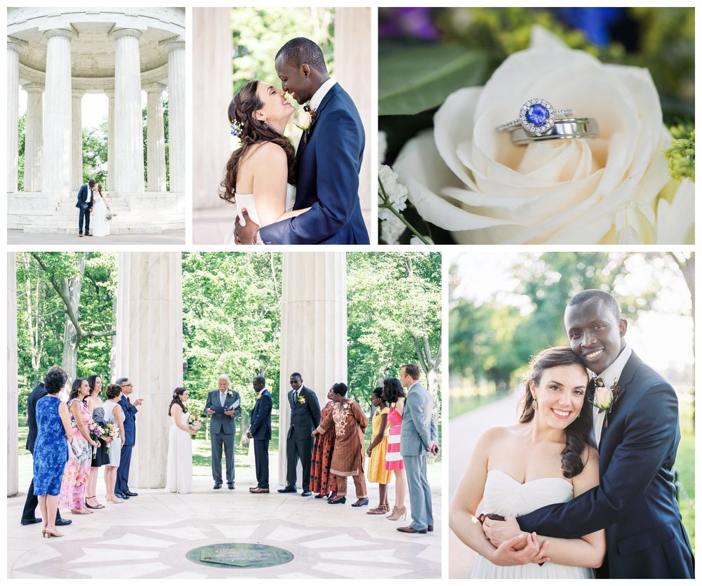 intimate elopement wedding at the DC memorial by washington dc fine art wedding photographer Lissa Ryan Photography