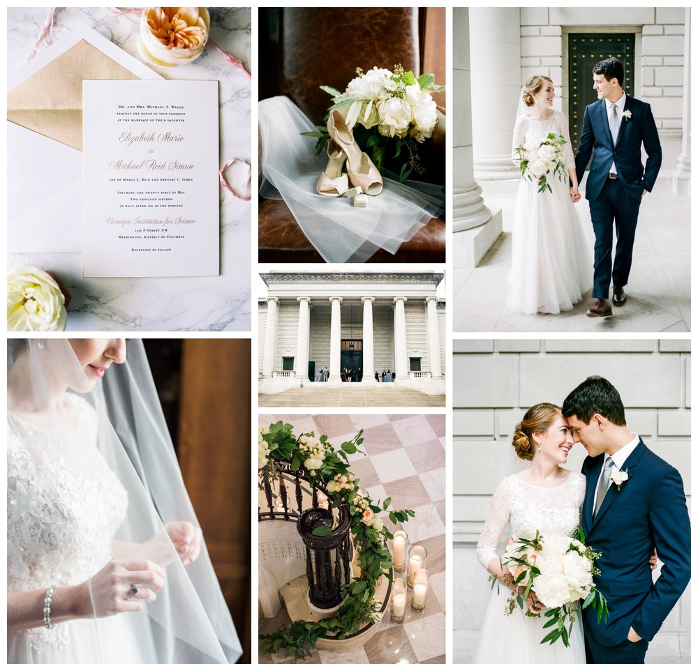 classic and elegant DC wedding at the Carnegie Institute of Science in Washington DC by fine art wedding photographer Lissa Ryan Photography