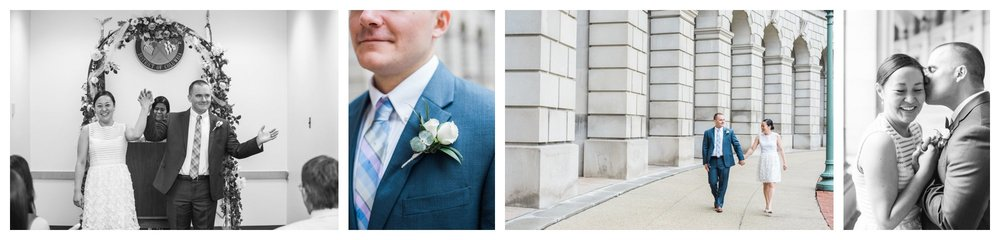 intimate Washington DC courthouse elopement wedding by fine art wedding photographer Lissa Ryan Photography