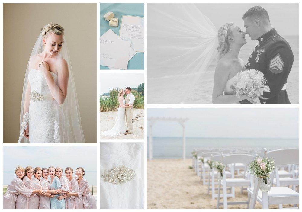 Riverside beach wedding in Maryland by fine art wedding photographer Lissa Ryan Photography