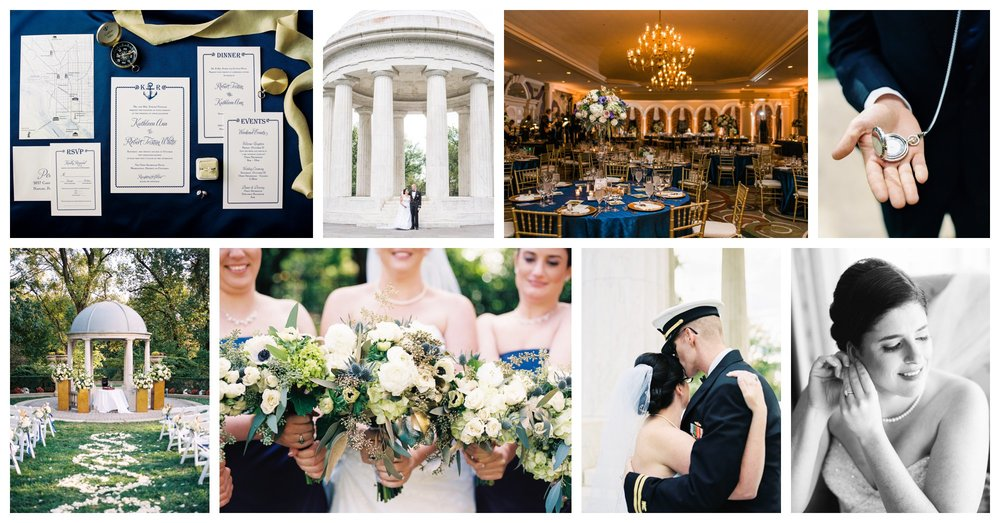 navy and gold nautical themed wedding at the omni shoreham hotel in washington dc by fine art wedding photographer Lissa Ryan Photography