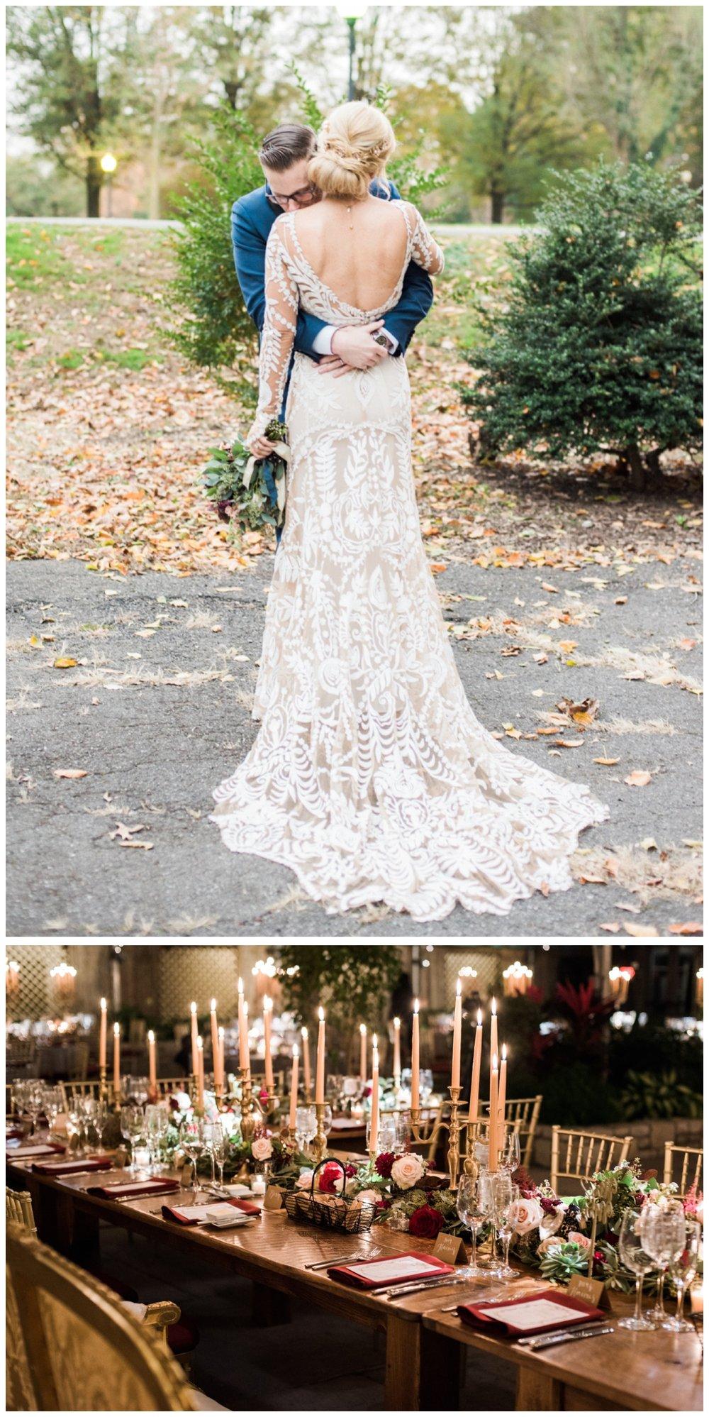 Lush fall wedding at the Fairmount Horticulture Center in Philadelphia Pennsylvania by fine art wedding photographer Lissa Ryan Photography
