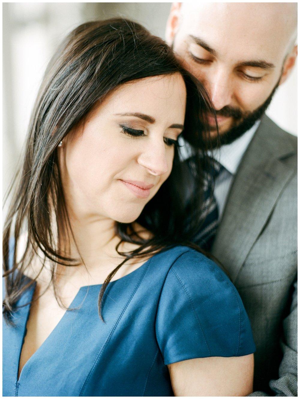 Elegant winter engagement session at Union Station Washington DC by fine art wedding photographer Lissa Ryan Photography