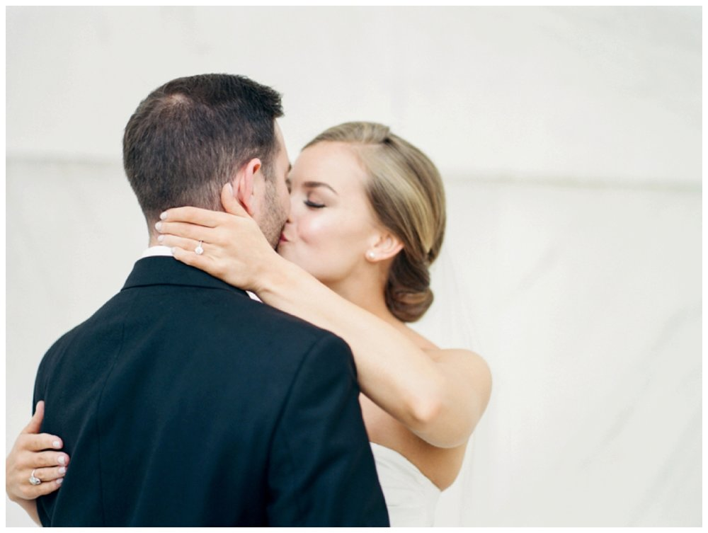 rainy day elopement on the National Mall in Washington DC by fine art wedding photographer Lissa Ryan Photography