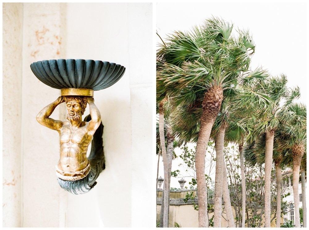 Vizcaya Museum & Gardens in Miami Florida on film by fine art wedding photographer Lissa Ryan Photography