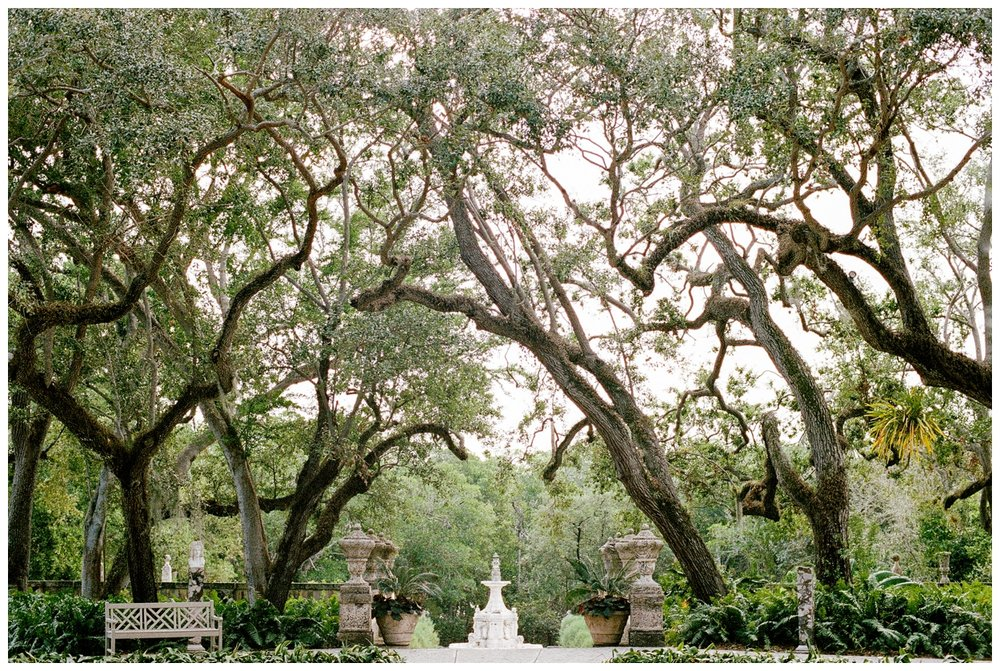 Vizcaya Museum & Gardens in Miami Florida on film by fine art wedding photographer Lissa Ryan Photography