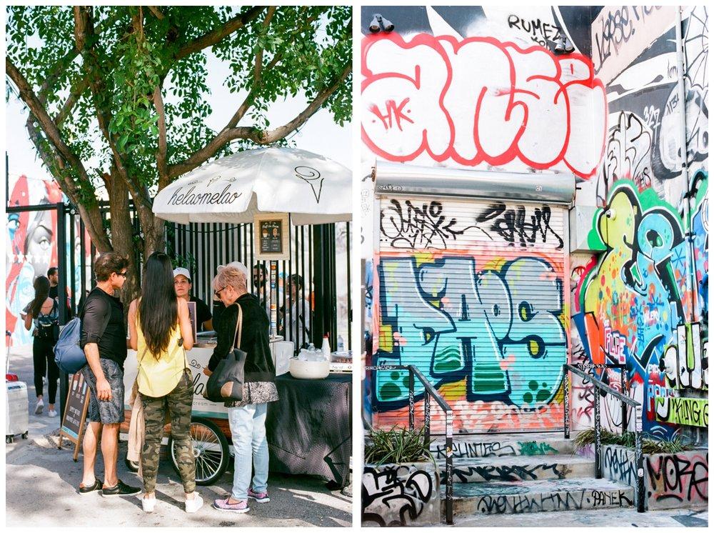 Wynwood Walls in Miami Florida on film by fine art wedding photographer Lissa Ryan Photography