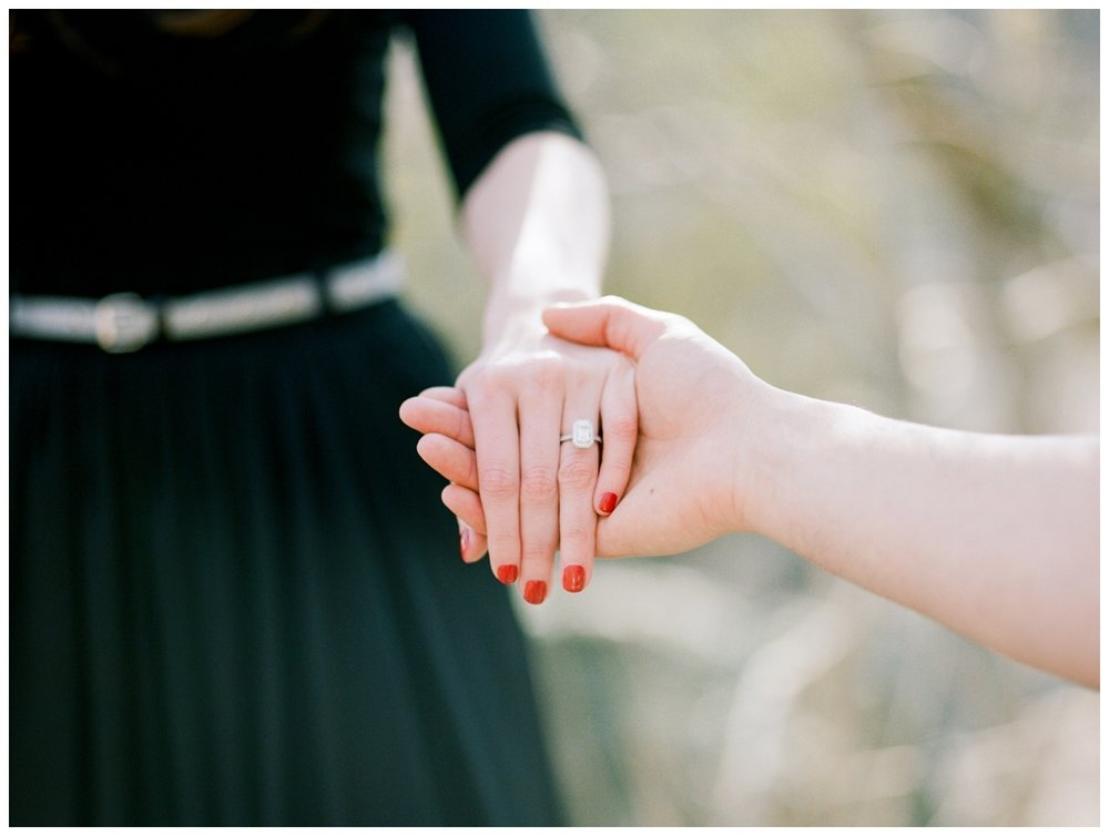 spring engagement session at Great Falls Park by Washington DC fine art wedding photographer Lissa Ryan Photography