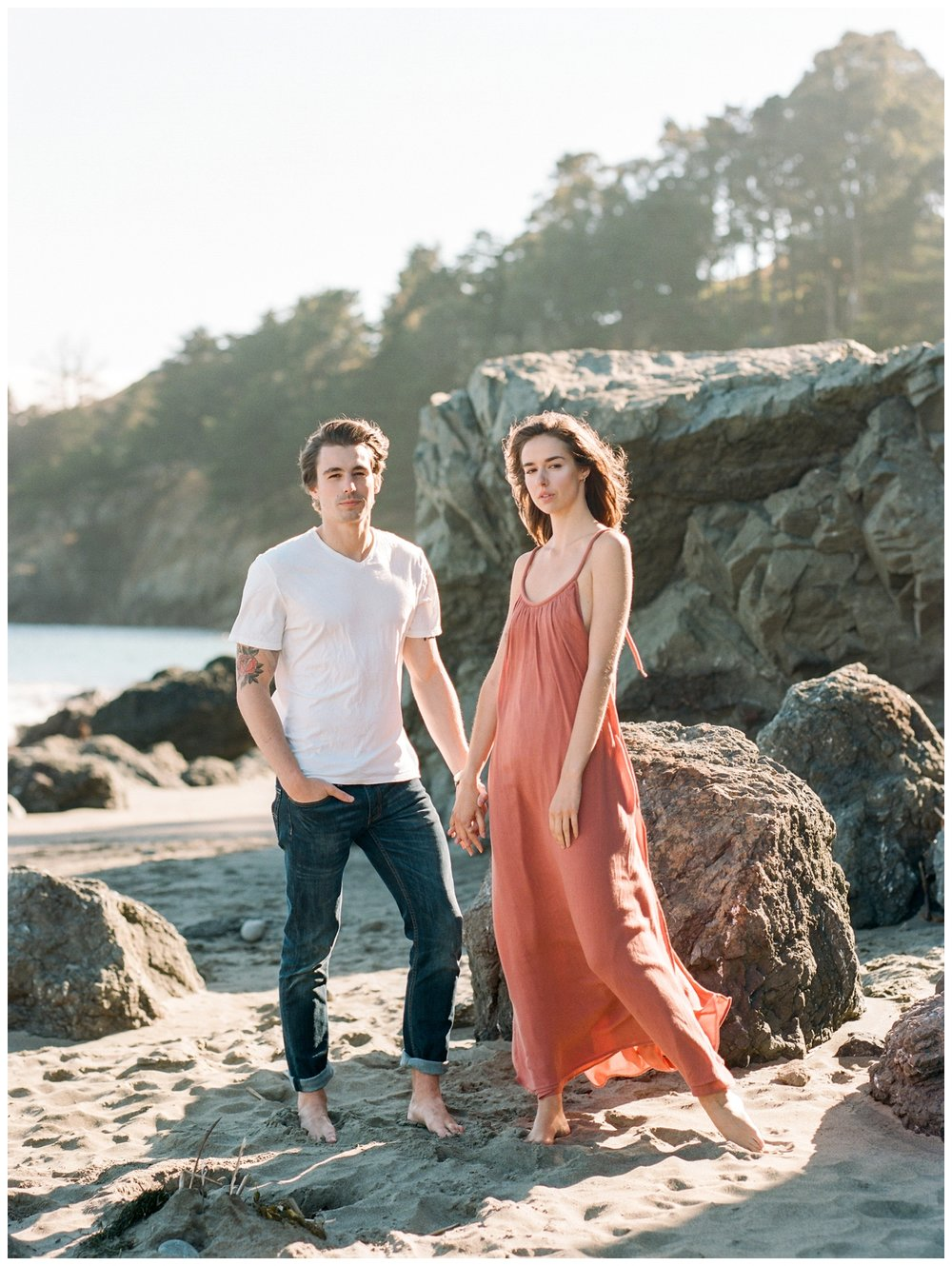Muir Beach Engagement Session in San Francisco California by fine art wedding photographer Lissa Ryan Photography