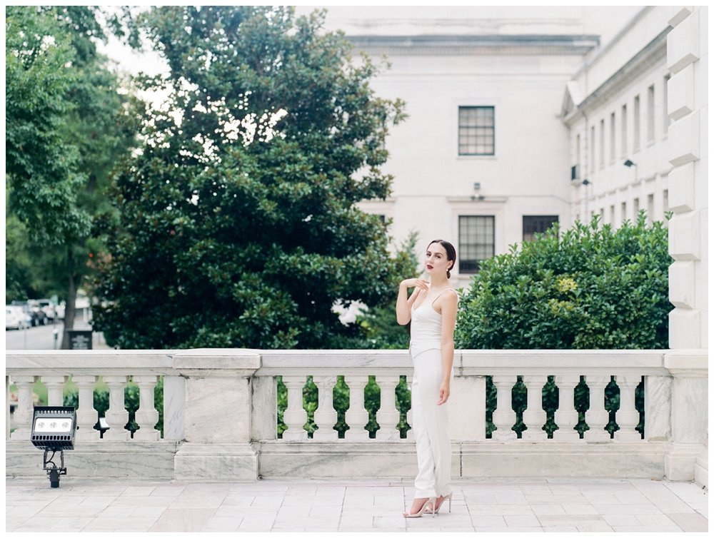 modern bridal editorial with bridal jumpsuit at DAR in washington dc by fine art wedding photographer Lissa Ryan Photography