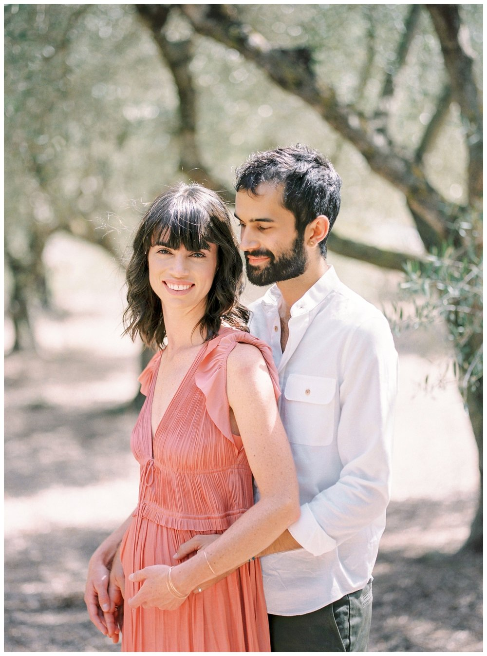 engagement session in an olive grove in Messinia Greece by fine art wedding photographer Lissa Ryan Photography
