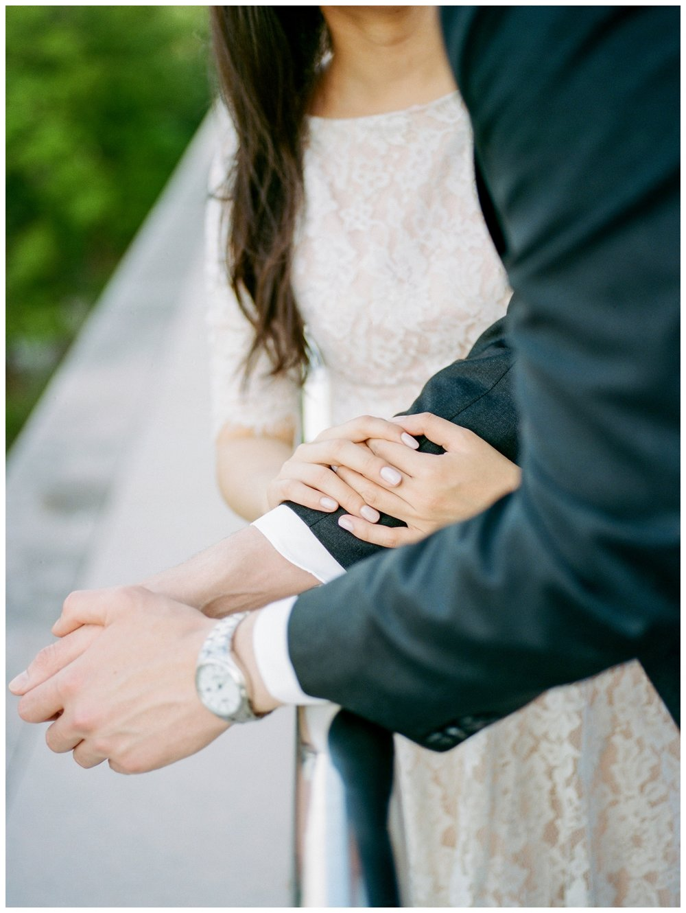 Sweet engagement session at the National Gallery of Art in Washington DC by fine art wedding photographer Lissa Ryan Photography