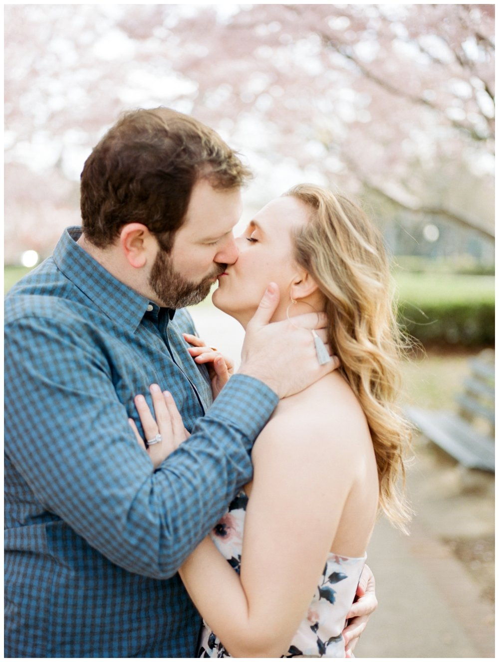 spring anniversary session with cherry blossoms on Capitol Hill in Washington DC by fine art wedding photographer Lissa Ryan Photography