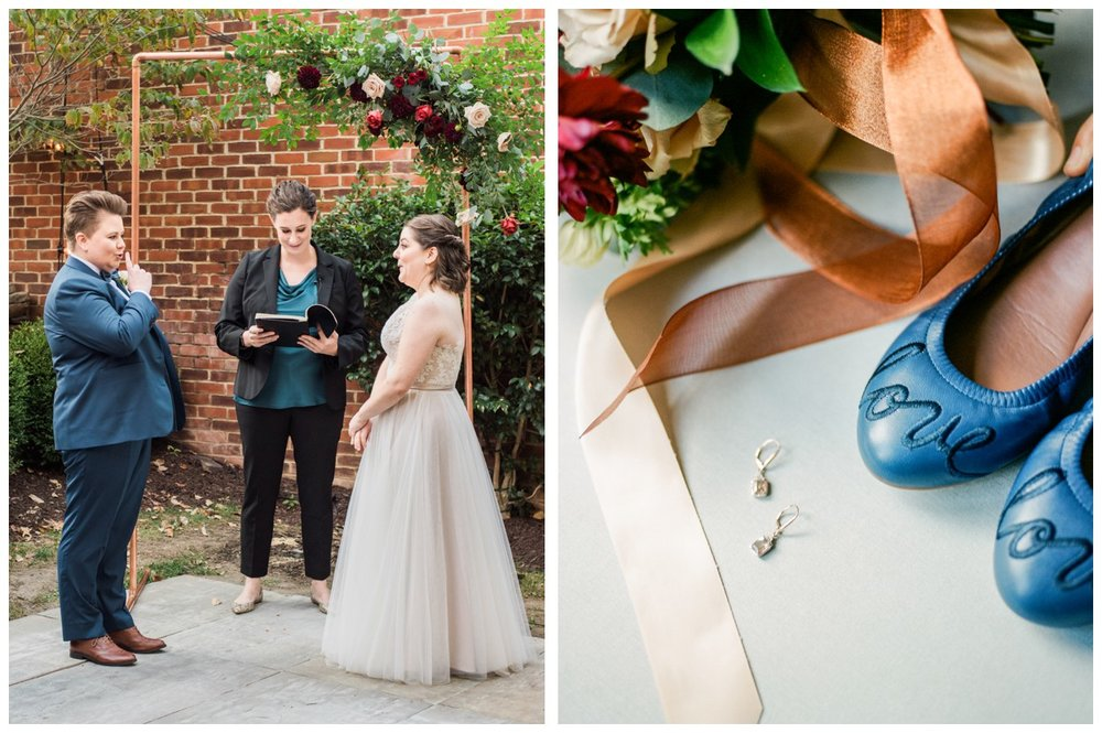 Fall Industrial same-sex Wedding at the Ritz Carlton Georgetown in Washington DC by fine art wedding photographer Lissa Ryan Photography