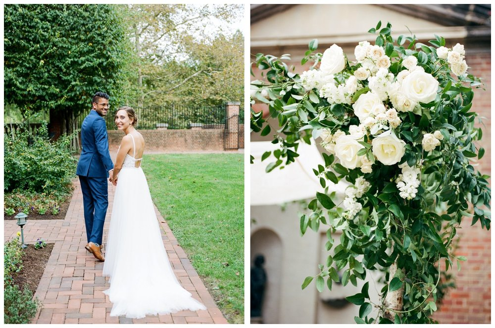 Fall wedding at Dumbarton House in Georgetown Washington DC by fine art wedding photographer Lissa Ryan Photography