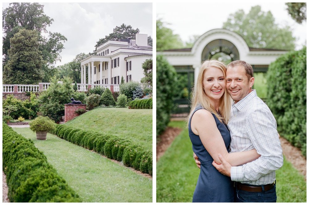 Spring engagement session at The Oatlands in Leesburg Virginia by fine art wedding photographer Lissa Ryan Photography