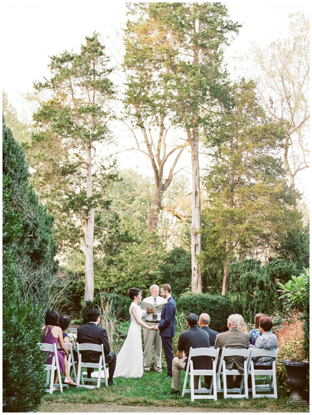 Intimate fall wedding at the Oatlands in Leesburg Virginia by Washington DC fine art wedding photographer Lissa Ryan Photography