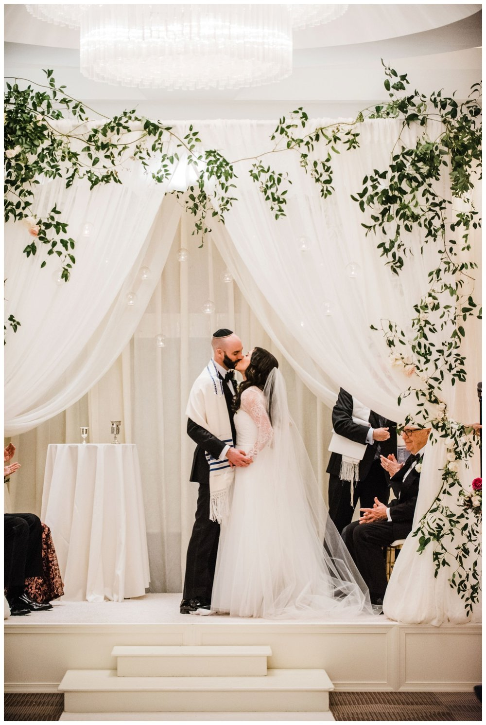 Spring Wedding in Shades of Pink at the Park Hyatt Washington DC by fine art wedding photographer Lissa Ryan Photography Jewish wedding ceremony