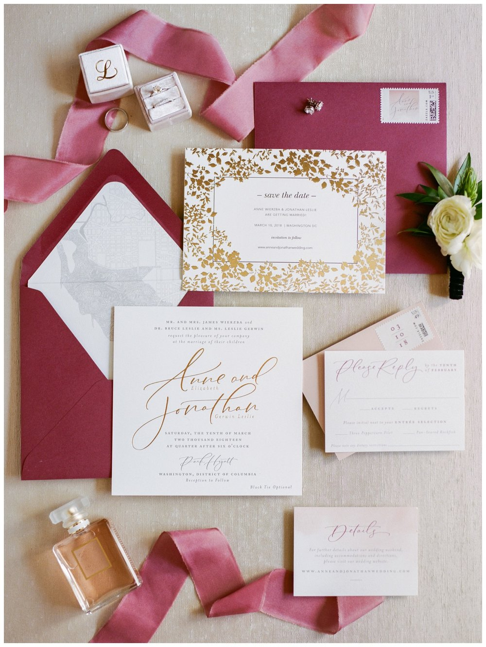 Spring Wedding in Shades of Pink at the Park Hyatt Washington DC by fine art wedding photographer Lissa Ryan Photography invitation suite by Stephanie B Designs