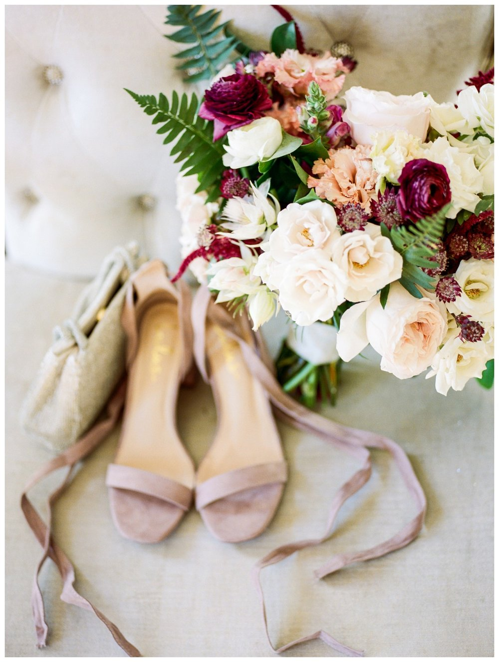 Sun drenched fall wedding in shades of pink at Oxon Hill Manor in Maryland beautiful bridal details by fine art wedding photographer Lissa Ryan Photography