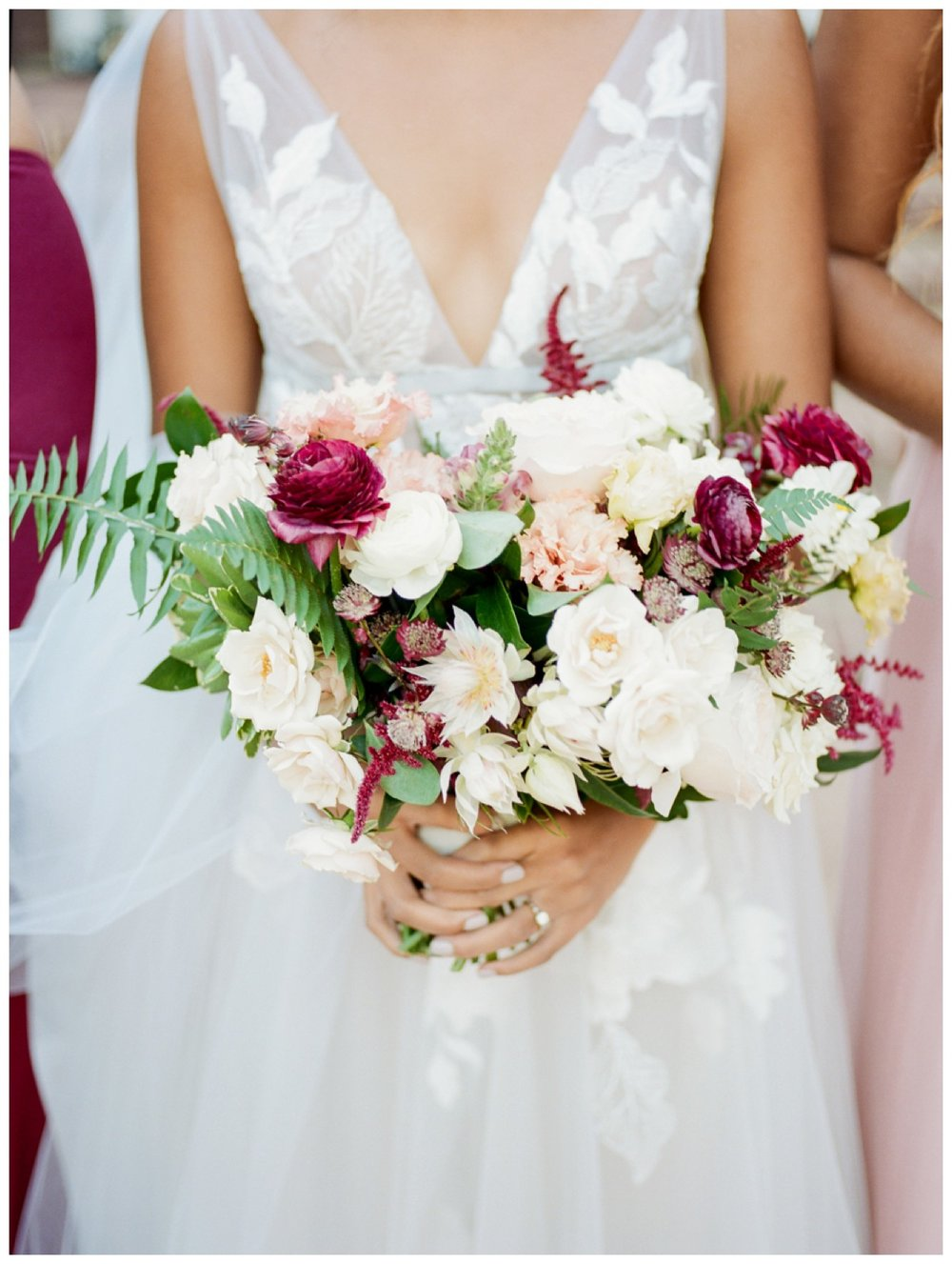 Sun drenched fall wedding in shades of pink at Oxon Hill Manor in Maryland bridal bouquet by Washington DC fine art photographer Lissa Ryan Photography