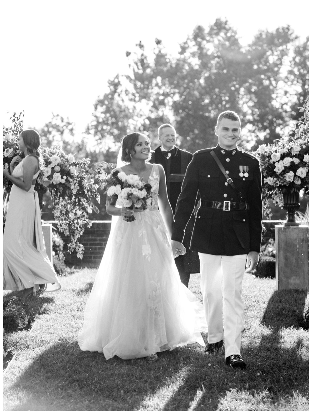 Sun drenched fall wedding in shades of pink at Oxon Hill Manor in Maryland after ceremony joy by Washington DC fine art photographer Lissa Ryan Photography