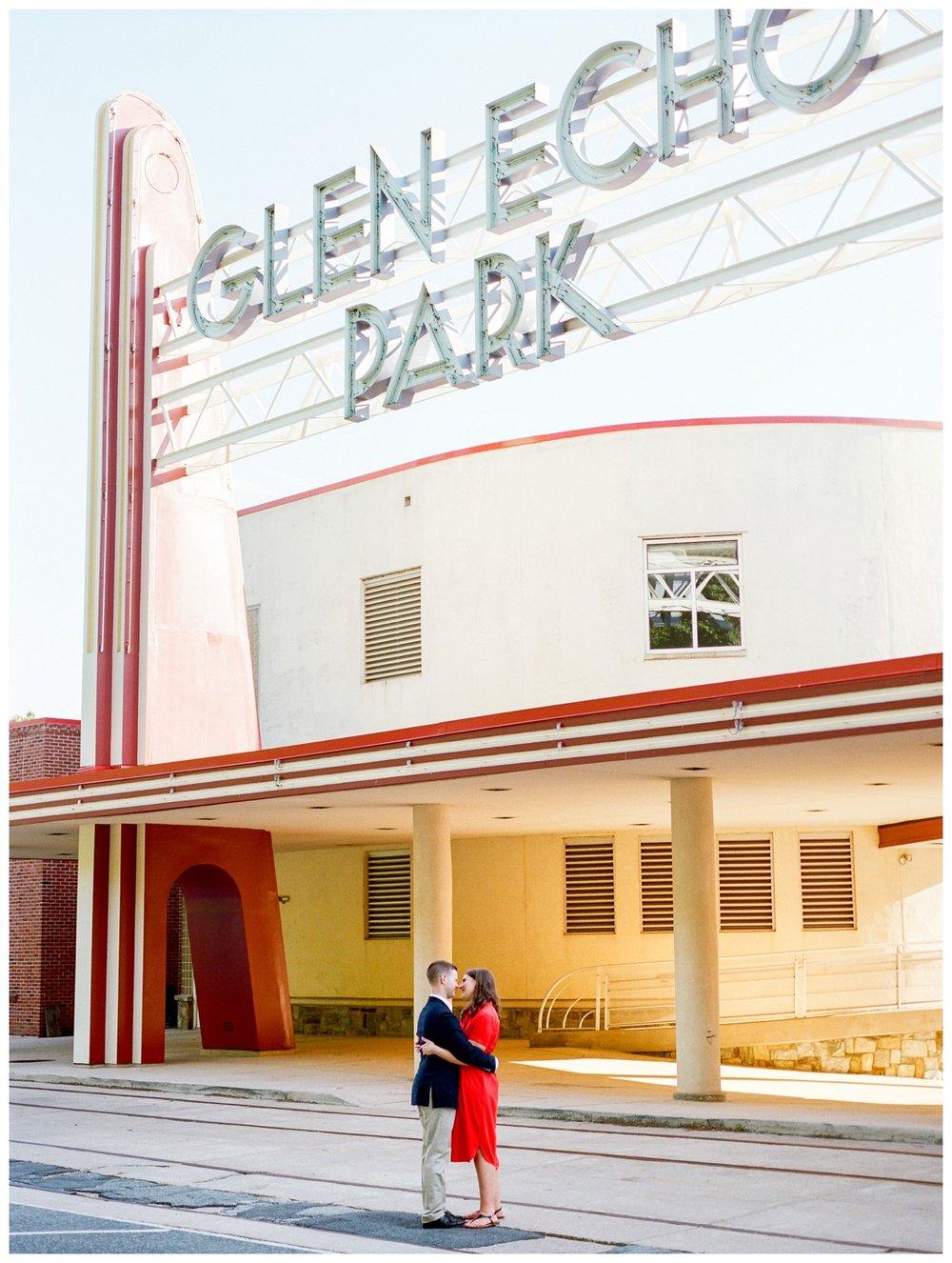 Summer engagement session at Glen Echo Park Maryland by Washington DC fine art wedding photographer Lissa Ryan Photography