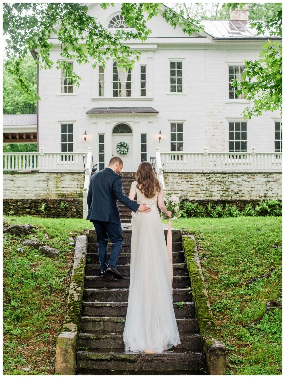 Intimate spring wedding at the Retreat at Cool Spring in Bluemont Virginia by Washington DC fine art photographer Lissa Ryan Photography bride and groom portraits