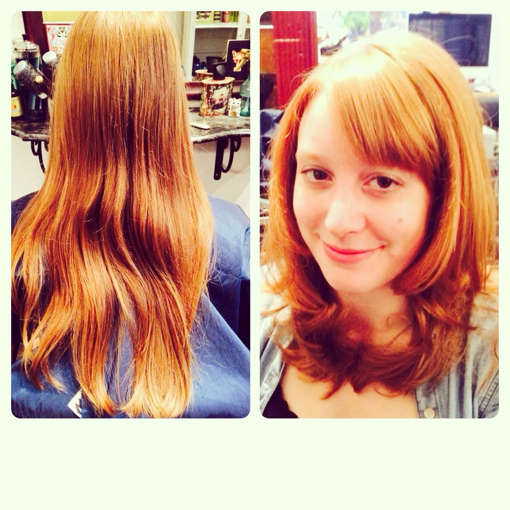 A few inches off and some subtle layers released her beautiful wave.
