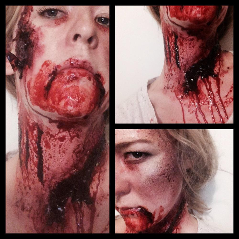 SPFX makeup - wounds, bruising, lacerations
