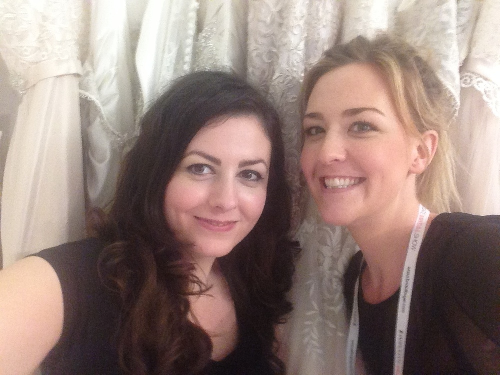 makeup and hair stylist backstage on the allure bridal fashion show in Harrogate.