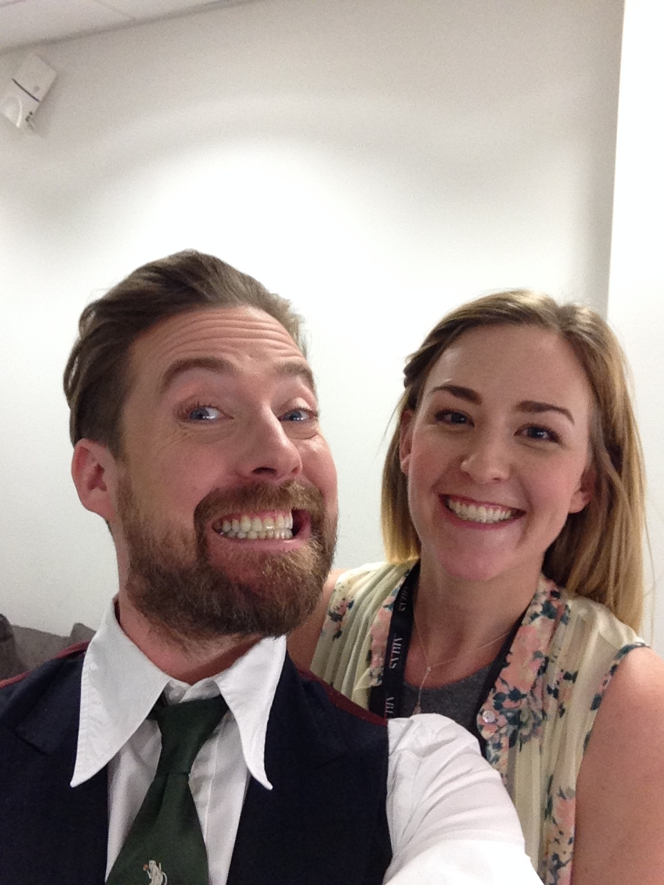 Makeup for Ricky Wilson from the Kaiser Chiefs.  Backstage at the First Direct Arena in Leeds