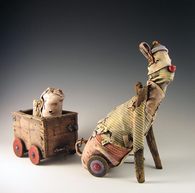 "Dog Pull Toy / 12""H x 24""W x 5""D / 2009"