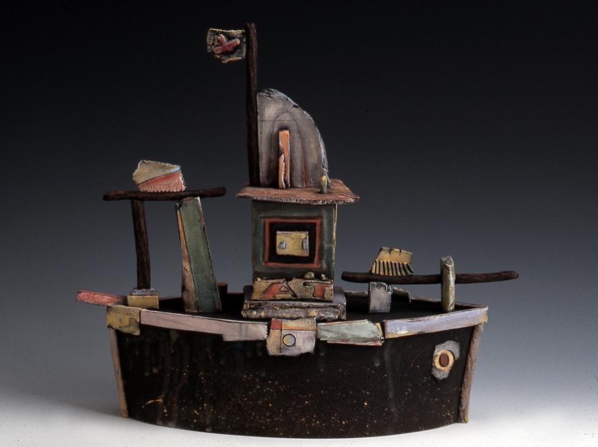"Boat #4 / 14""H x 12""W x 4""D / 1997"