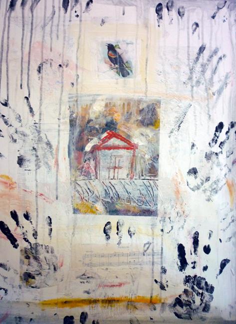 "Bird House / 30""H x 22""W / 2012"