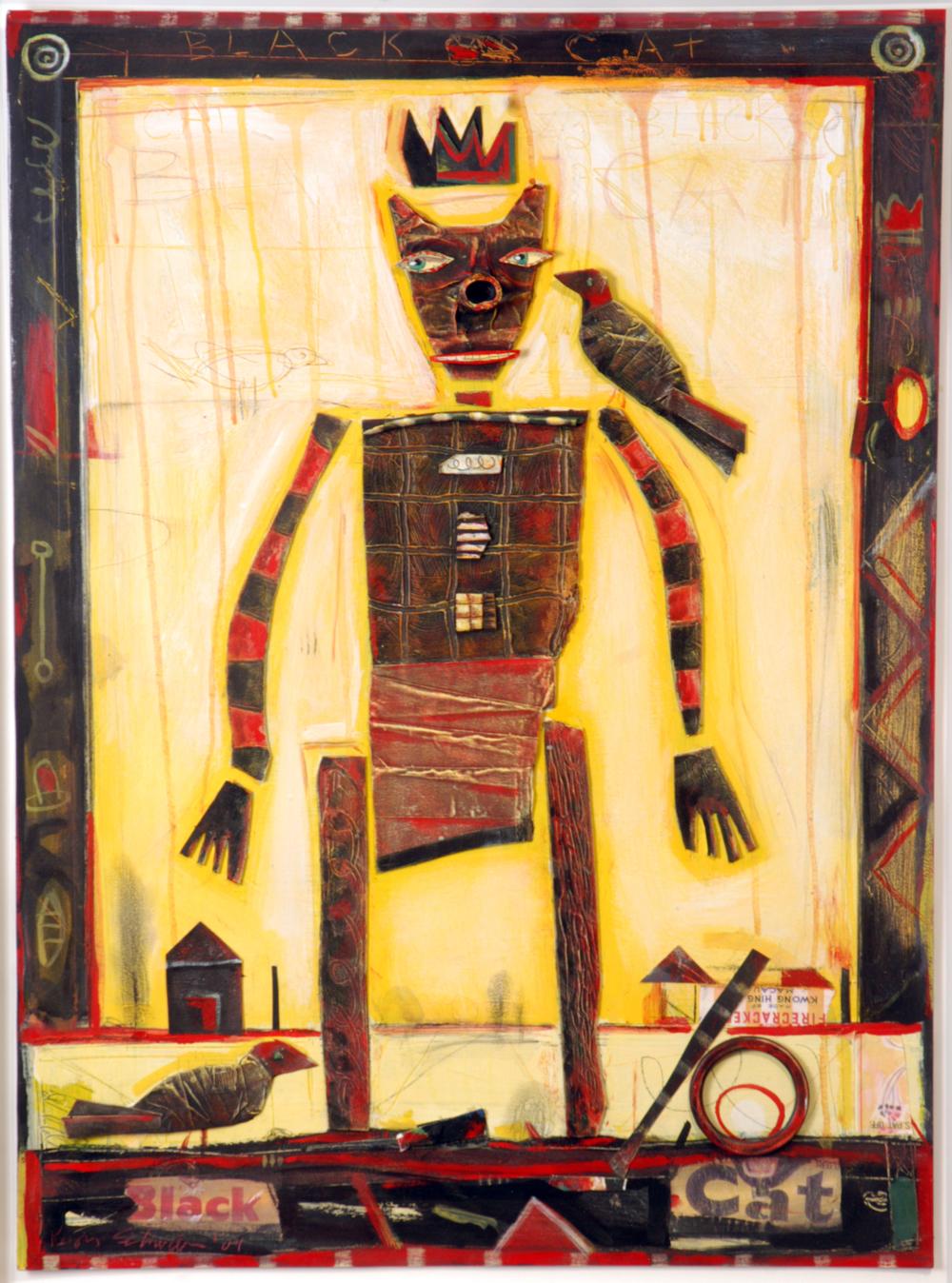 "Black Cat / 30""H x 22""W / 2004"