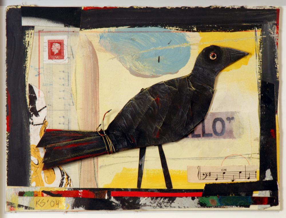"Black Bird / 12""H x 18""W / 2004"