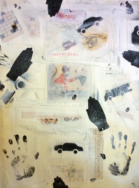 "Five Finger Study / 30""H x 22""W / 2012"
