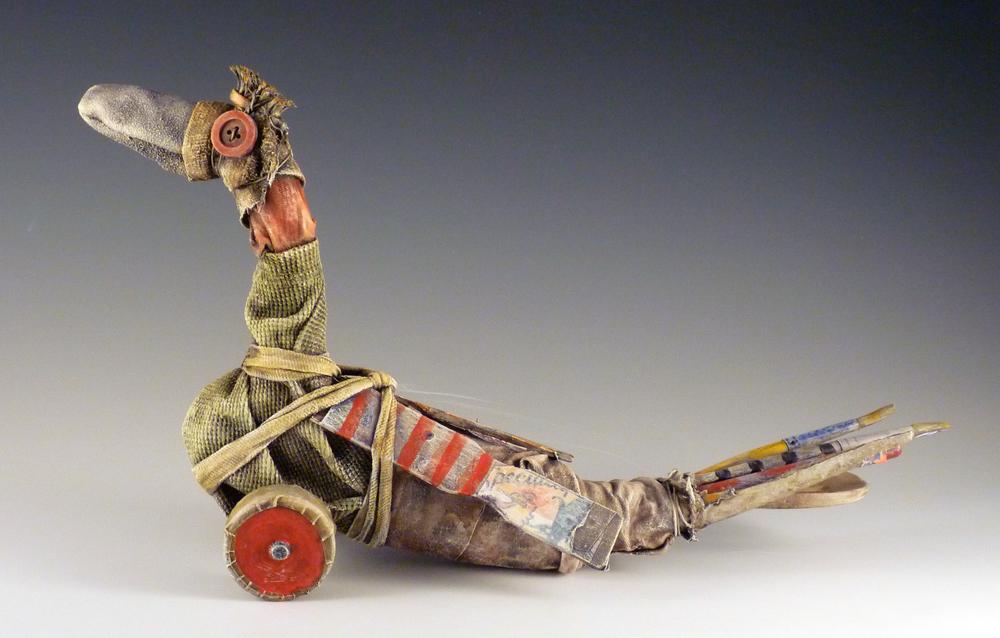 """Toy Bird / 8""""H x 114""""W x 5""""D / 2012"""